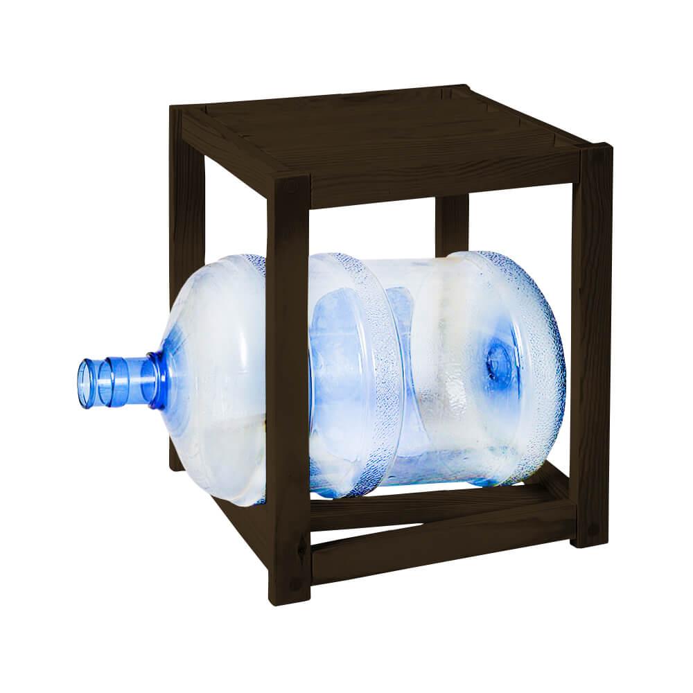 Подставка деревянная на 1 бутыль темная