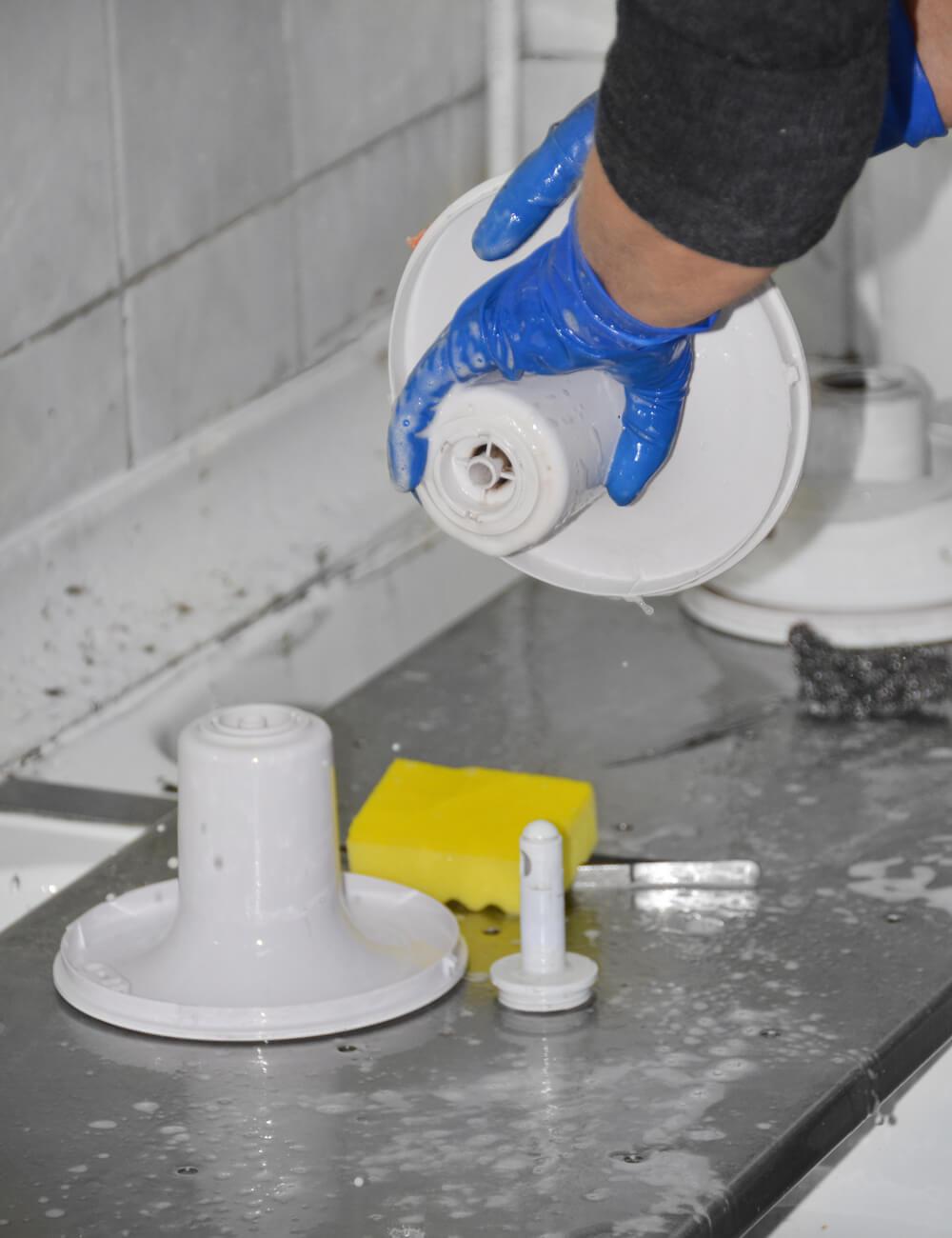 Процесс санобработки кулера